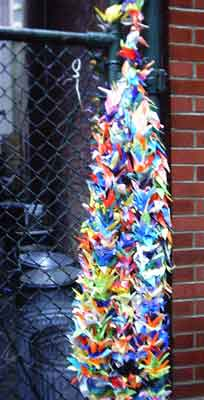 paper cranes for firefighters