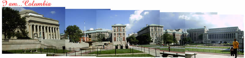 Panoramic view of Columbia University in the City of New York